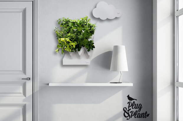 Сделайте дома зеленый уголок с помощью системы вертикального сада