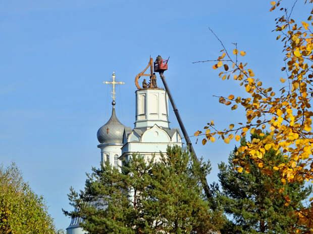 Свято-Вознесенский храм на Борисоглебском погосте. Замена купола и креста