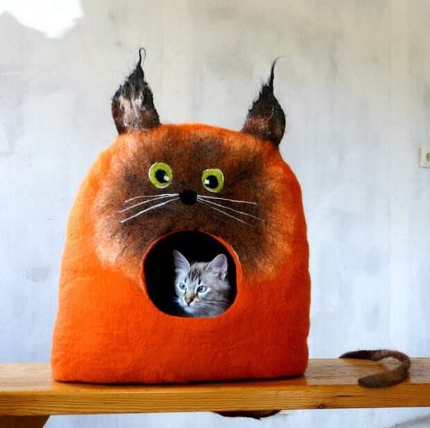 Как сшить из кофты для кота лежанку. Как сделать лежанку для кошки своими руками из подручных материалов