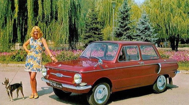 Машины и красивые девушки в рекламе автомобилей СССР