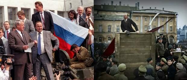 Почему революция 1917 благо, а 1991 года - катастрофа