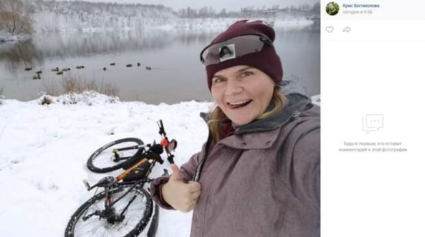 Снежная зима не стала помехой для велолюбителей в парке 850-летия Москвы