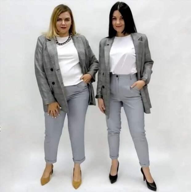 Две девушки с разными фигурами примерили одинаковые образы и доказали, что стиль не зависит от размера одежды