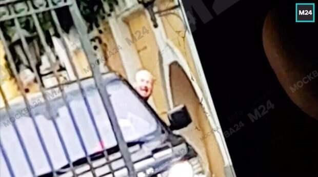 Появились первые кадры с места ДТП у посольства США