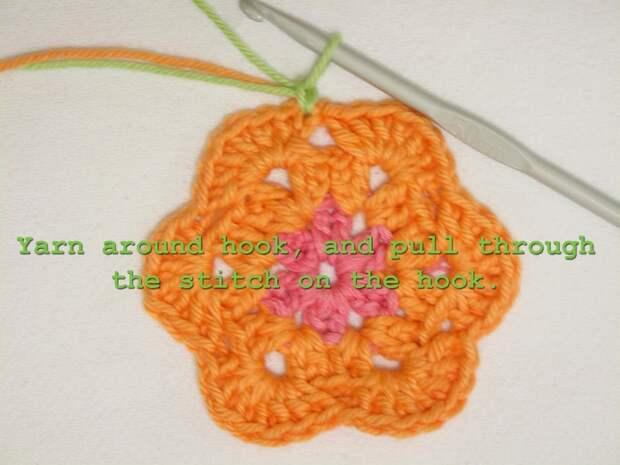 Цветочный фрагмент крючком АФРИКАНСКИЙ ЦВЕТОК для вязания игрушек (47) (700x525, 229Kb)