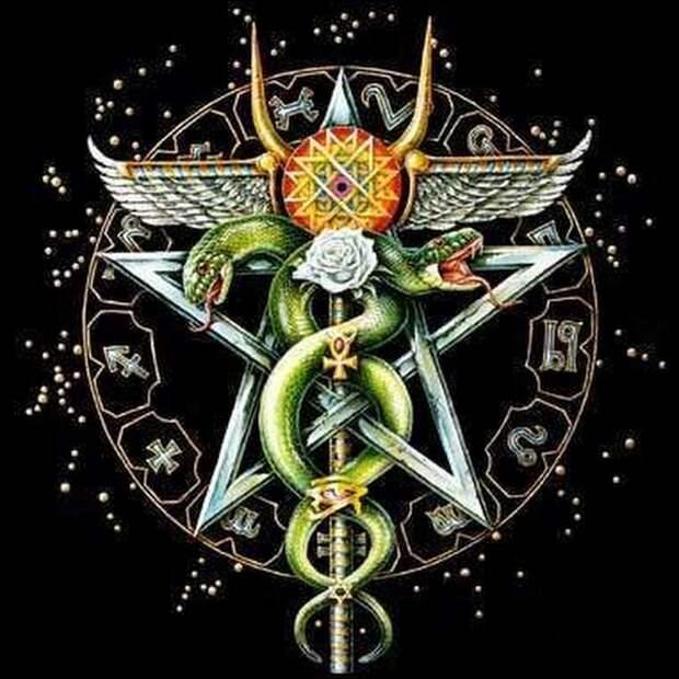 Художественное изображение символики змееносца