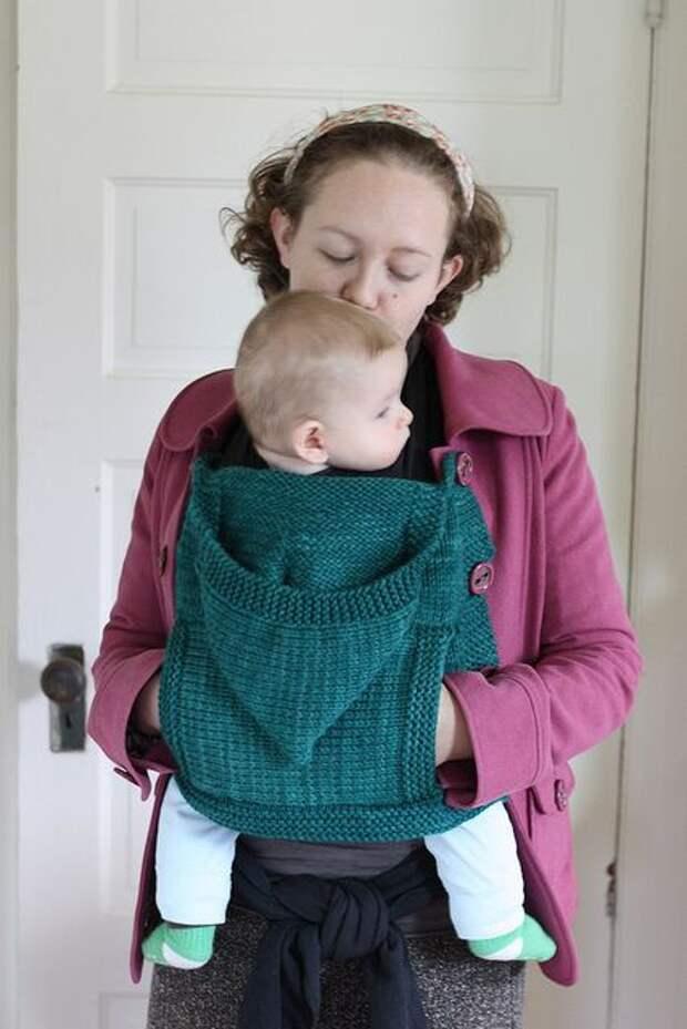 Вязаный накладной кармашек... на ребенка (Diy)