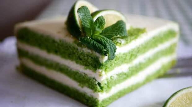 Торт из лайма и мяты