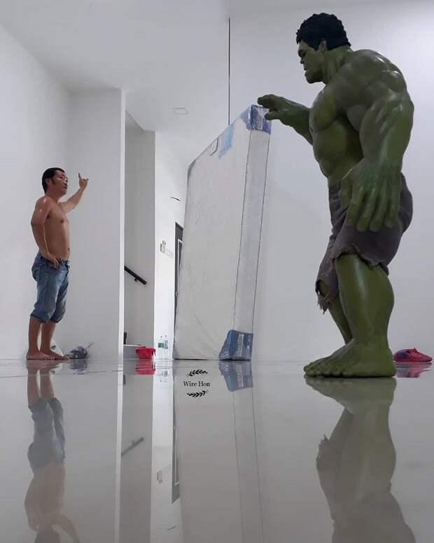 Постановочные снимки с супергероями слишком похожие на реальность