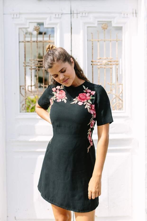 Переделка черного платья DIY