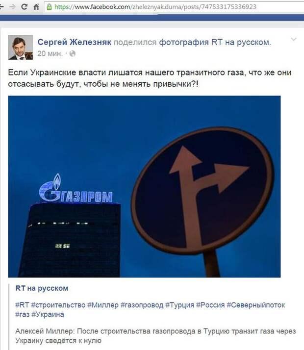 В Госдуме поинтересовались, что в Киеве будут «отсасывать» вместо газа