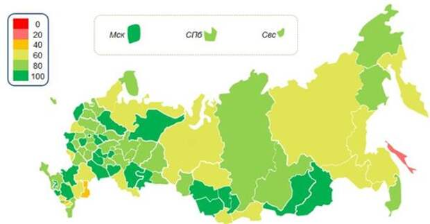 Индексы экономической активности в субъектах РФ (май 2021 г.)