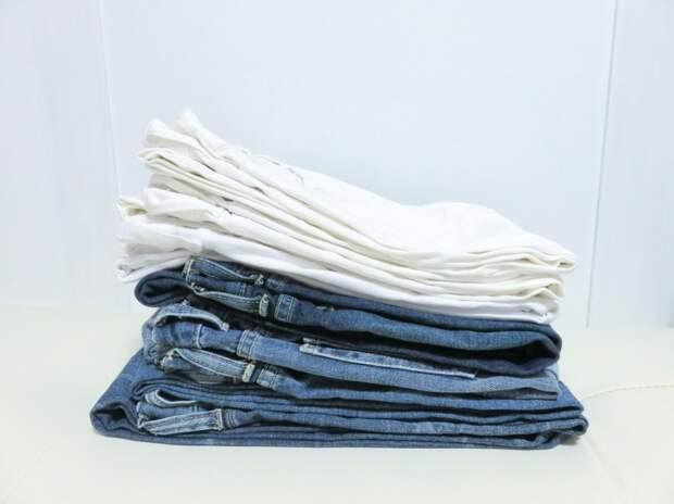 Новый способ сложить компактно джинсы
