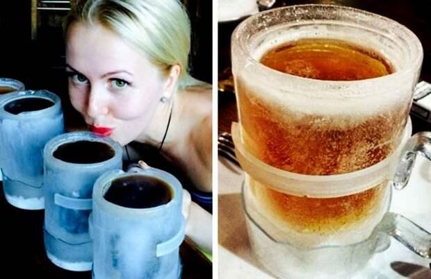 Чтобы пиво не нагревалось, просто пейте его...из льда. /Фото: genial.guru
