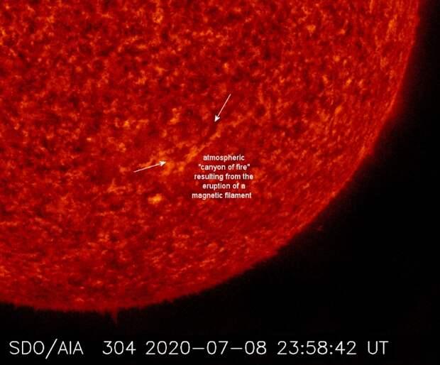 На Солнце возник «каньон огня», который может стать угрозой для Земли