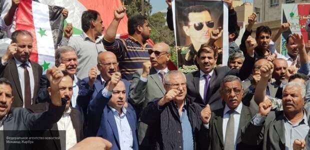 Новая демонстрация в поддержку Башара Асада прошла в окрестностях Камышлы