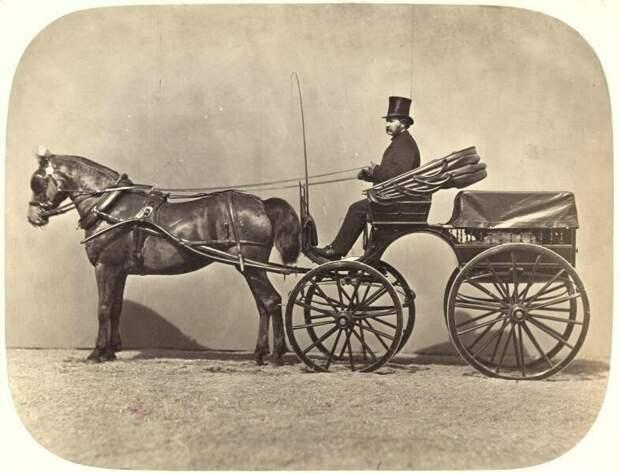 Бричка (1860-е) дореволюционные снимки, интересно, кадр, россия, факты, фото