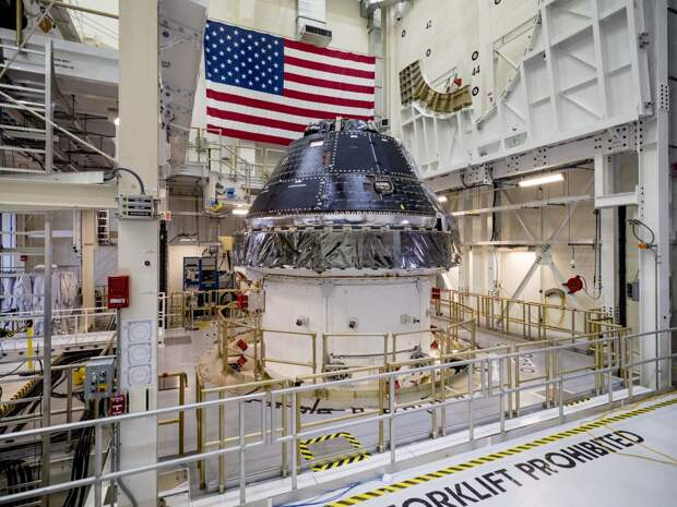 NASA Orion crew capsule for the first Artemis lunar mission