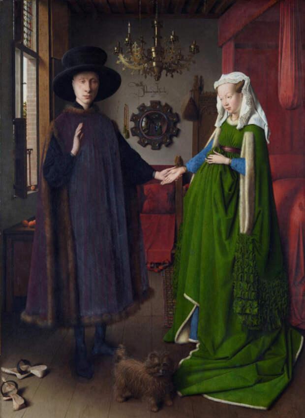 Ян ван Эйк, «Портрет четы Арнольфини», 1434 г.
