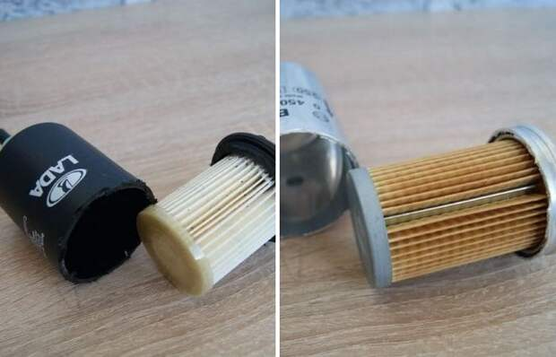 Если заглянуть внутрь: чем отличаются топливные фильтры «Лада» и «Bosch»