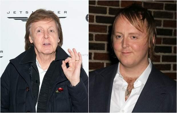 Знаменитый фронтмен легендарной группы «The Beatles» Пол Маккартни и гордость своего отца Джеймс Луис Маккартни.