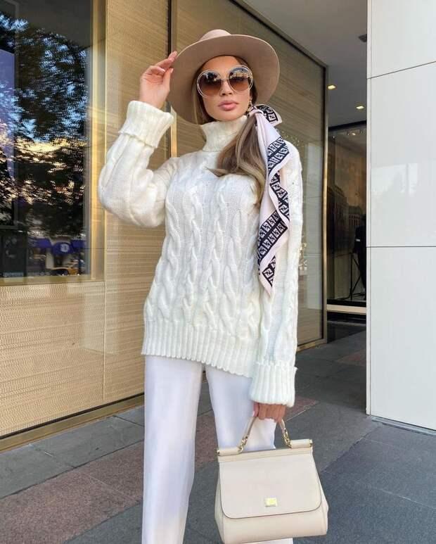 20 примеров как стильно носить свитер в любых стилистических направлениях