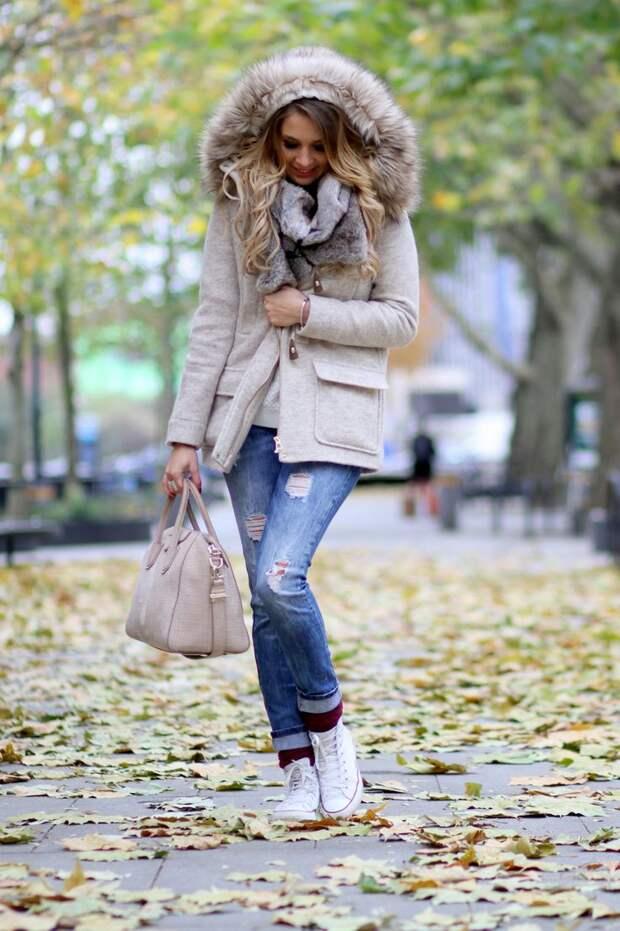 Светлая обувь в осень и зиму. Красиво и стильно.