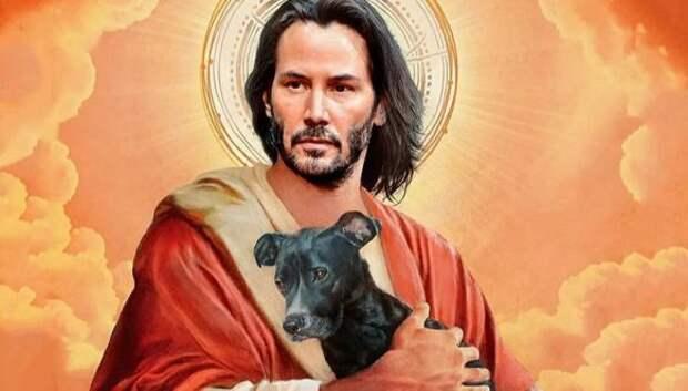 Святой Киану и другие знаменитости в образе святых