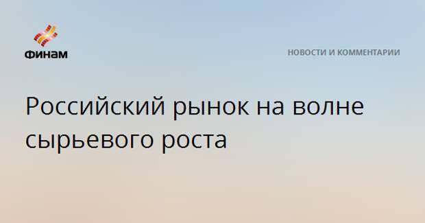 Российский рынок на волне сырьевого роста