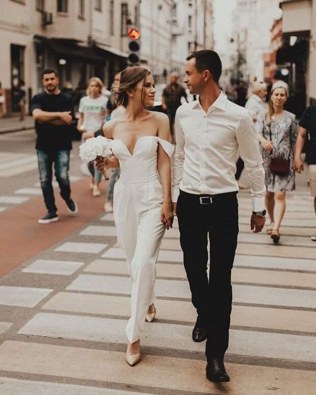30 свадебных комбинезонов: идеи для вдохновения