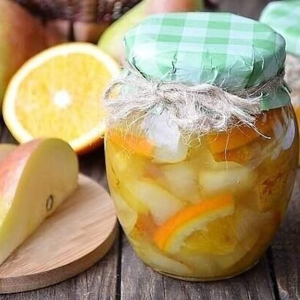 Варенье из груш с апельсином.