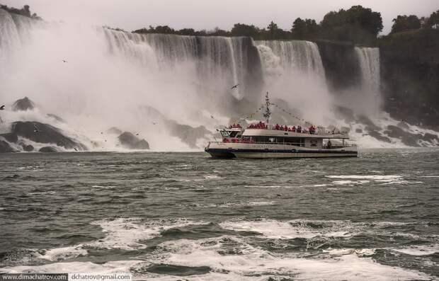 Niagaraoutside03 Ниагарский водопад. Вид изнутри