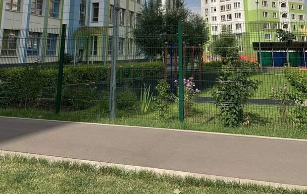В заборе на Синявинской коммунальщики закрыли «портал»