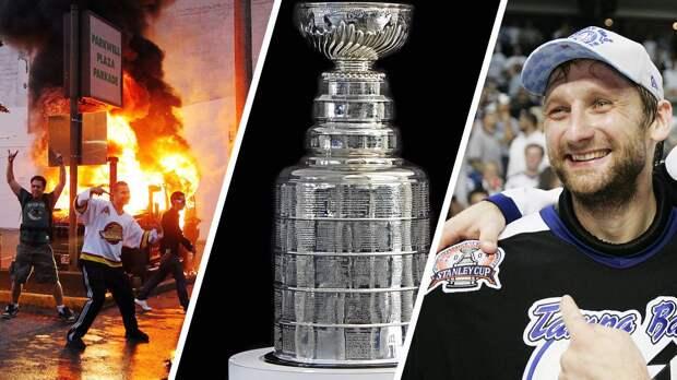 Красивое спасение русского вратаря Хабибулина, сожженные машины на улицах Ванкувера. Истории камбэков в финалах НХЛ