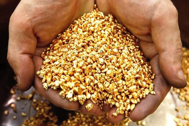 Золото в штольне