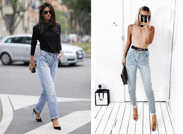 Как и с чем носить джинсы с высокой талией
