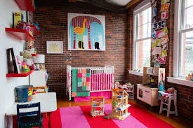 Кирпичная кладка...в детской комнате
