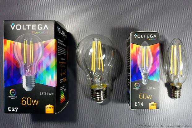 Филаментные лампы Voltega с высоким индексом цветопередачи