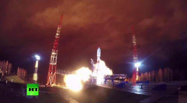 Запуск ракеты-носителя «Союз-2.1б» с навигационным спутником ГЛОНАСС-М