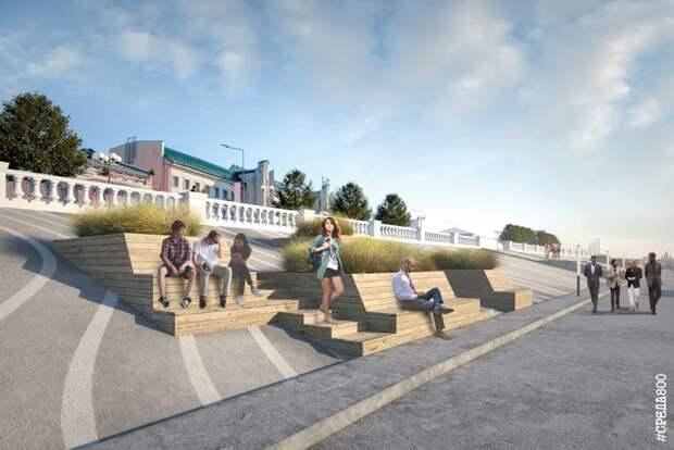 НаНижневолжской набережной начались работы попрокладке электрокабеля
