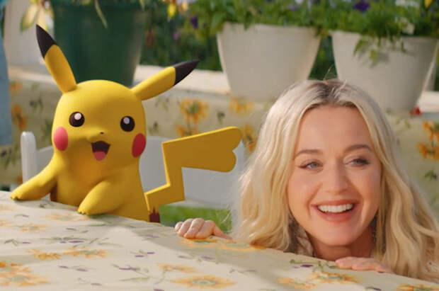 Кэти Перри снялась в клипе вместе с Пикачу