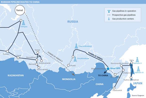 «Газпром» впервые раскрыл цену поставок газа в Китай по «Силе Сибири»