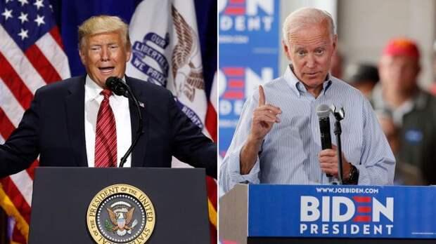 Предвыборный соцопрос: Байден существенно опережает Трампа