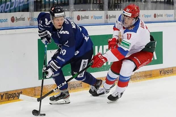Хоккеисты сборной России проиграли Финляндии 1:4 предпоследний матч Евротура