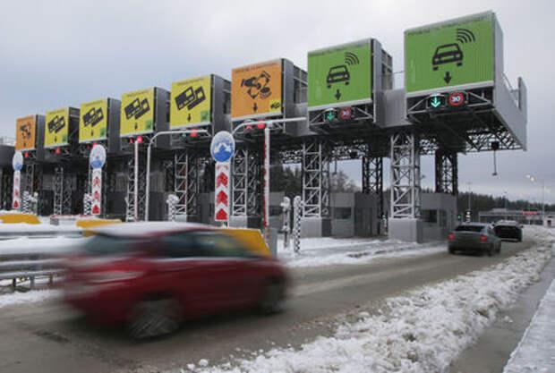 На платной трассе Москва - Санкт-Петербург выросли тарифы