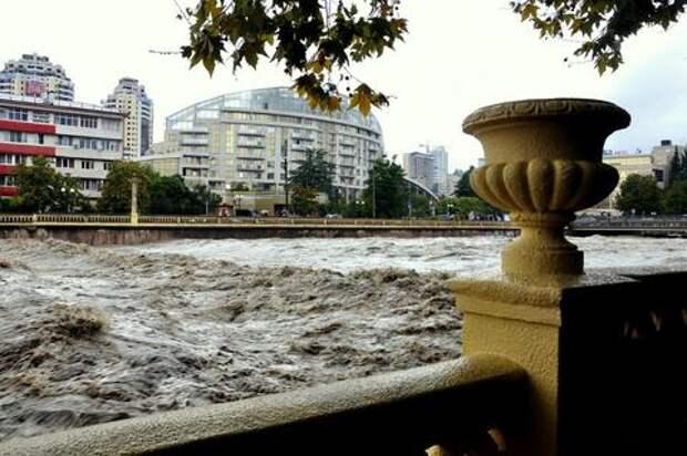 В Сочи ожидается подъем уровня рек до неблагоприятных отметок