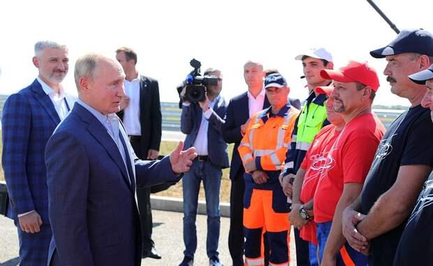 Путин открыл готовые участки «Тавриды» без Аксенова и Развожаева