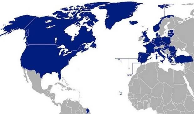 География НАТО.