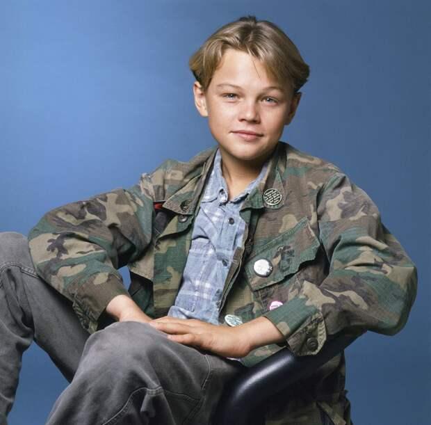 16 летний Леонардо Ди Каприо в фотосессии 1990 года.