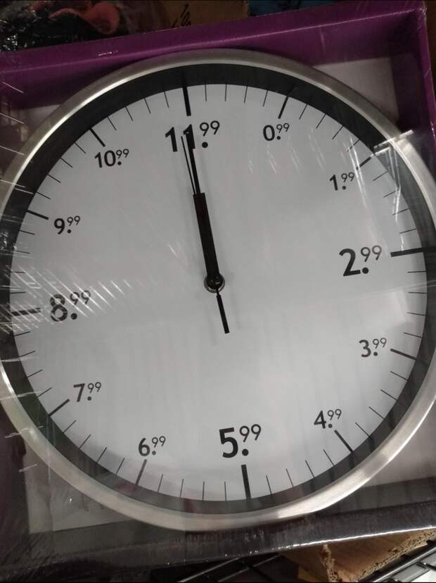 Распродажные часы?